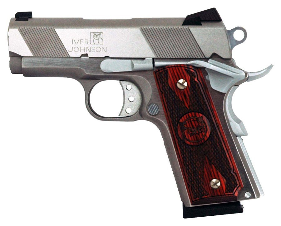 "Iver Johnson Arms 1911 Thrasher Ss 9MM Luger 3"" FS 8Rd Stainless"